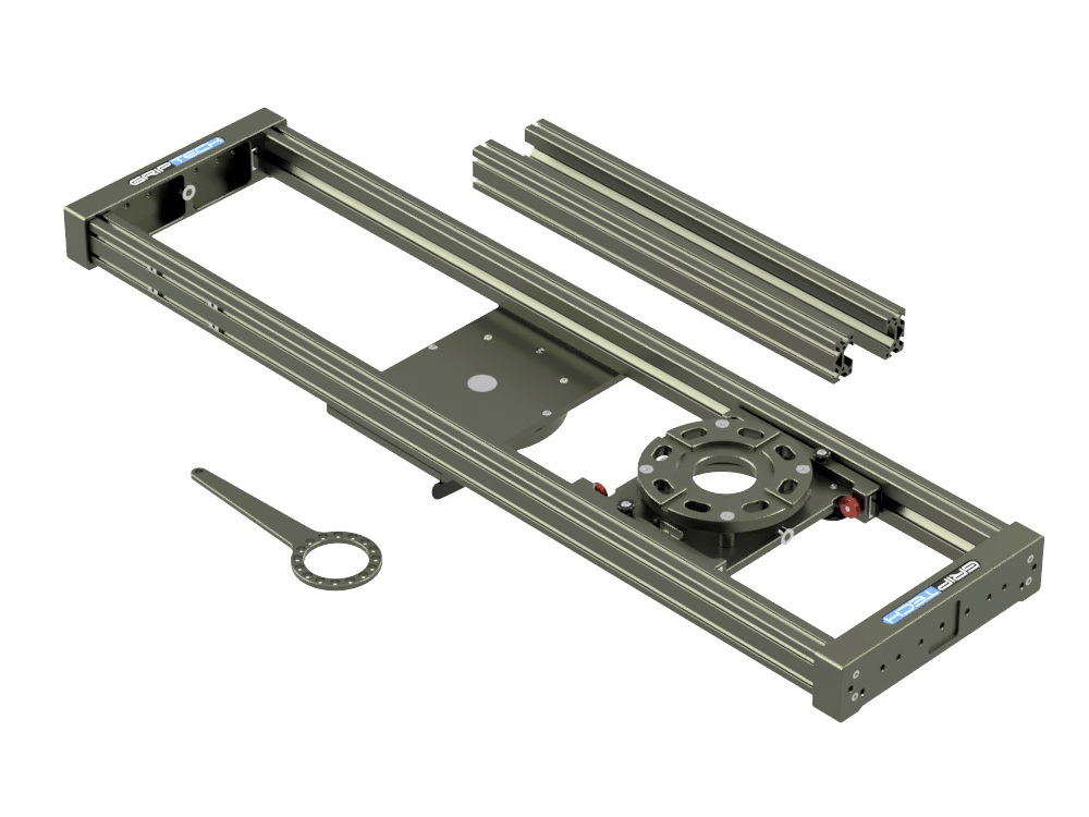 4 Foot Slider(≈1.3m)Including 2ft Rail SetIncluding Flight Case  (accommodates 3ft Rail Set)