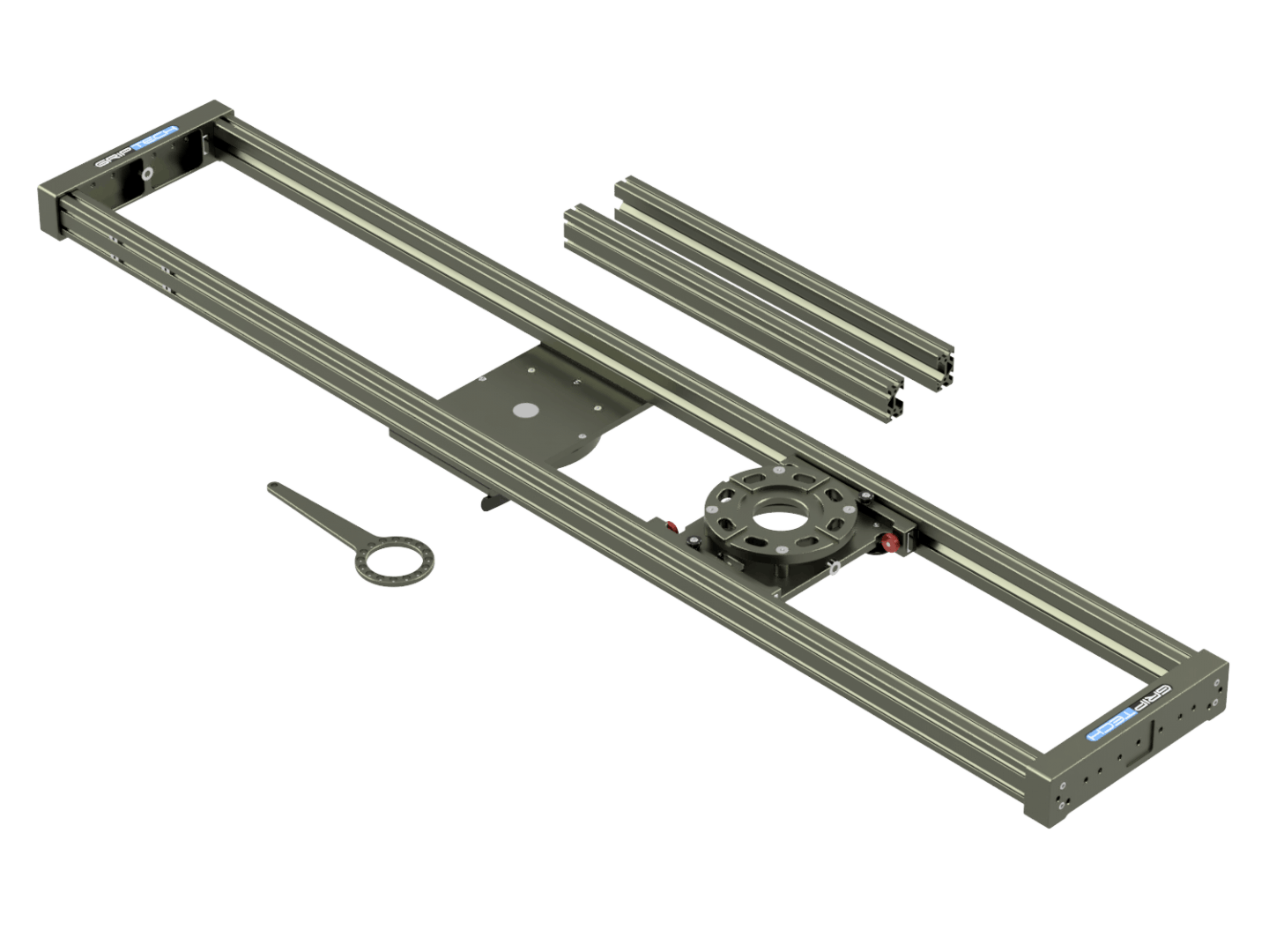 6 Foot Slider(≈1.9m)Including 2ft Rail SetIncluding Flight Case  (accommodates 3ft + 4ft Rail Sets)