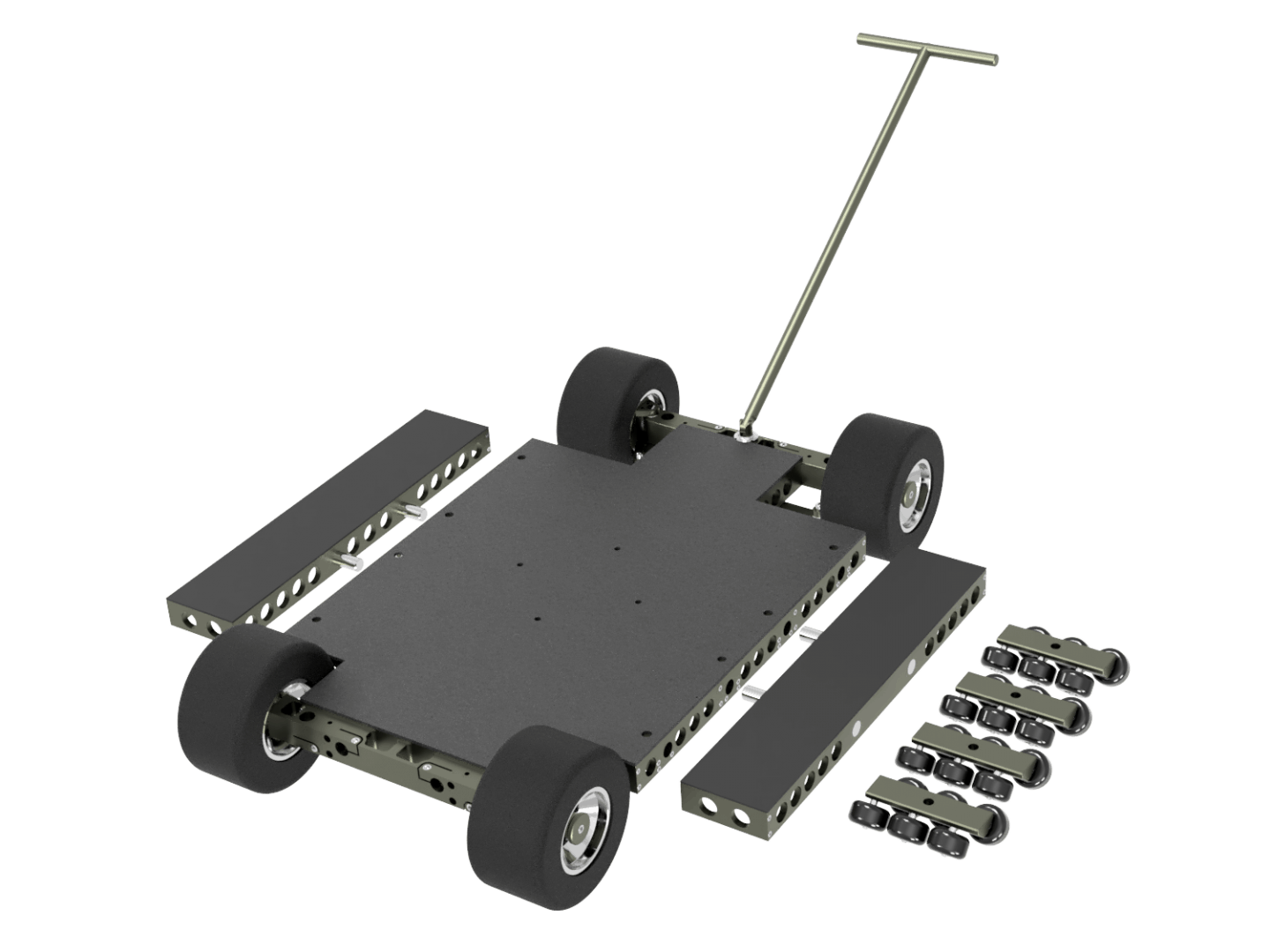 Doorway Dolly   Including Removable Side Platforms  Including Track Wheels